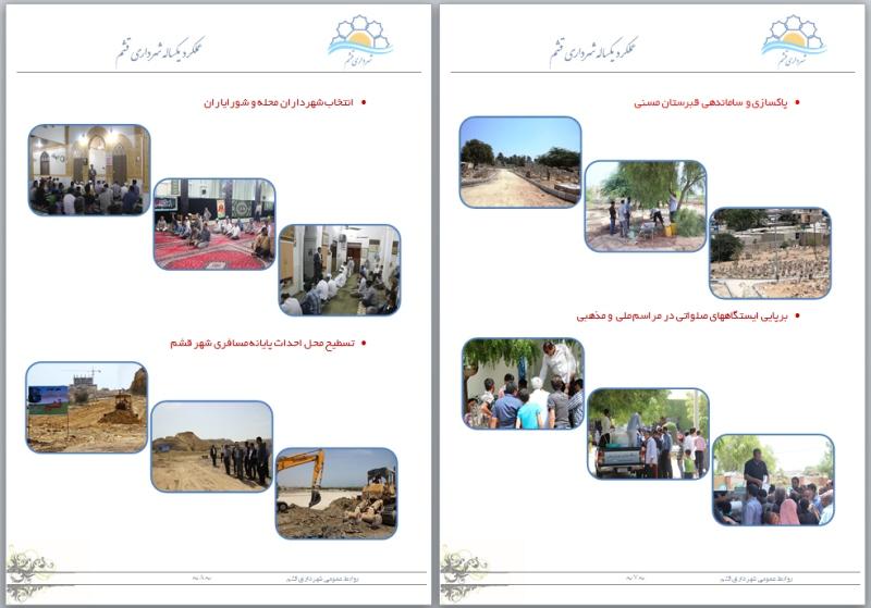 عملکرد شهرداری قشم 4