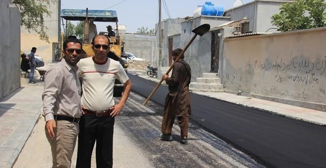 آغاز پروژه ۲۰ هزار متر مربع آسفالت محلات قشم