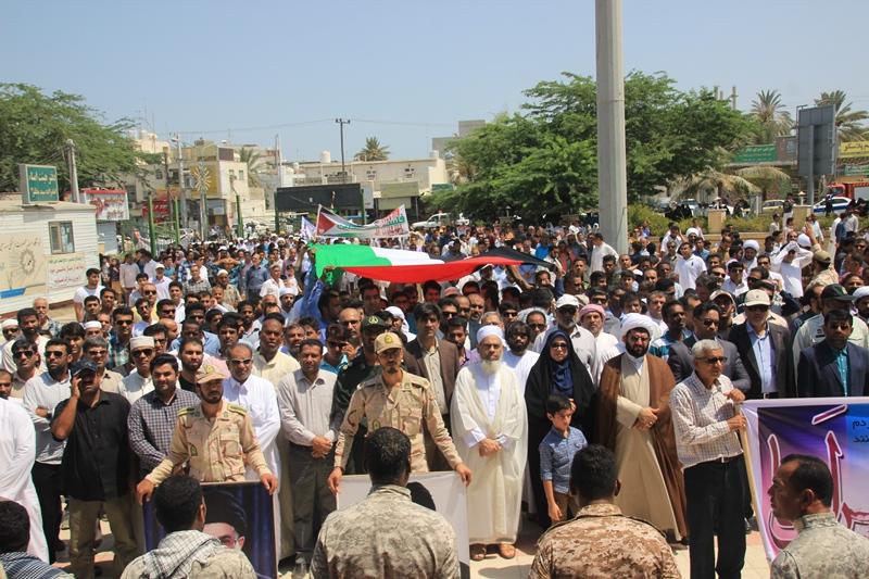 راهپیمایی روز قدس در قشم