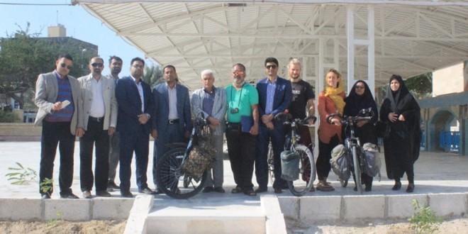دوچرخه سواران حامی محیط زیست ، میهمان شهر قشم