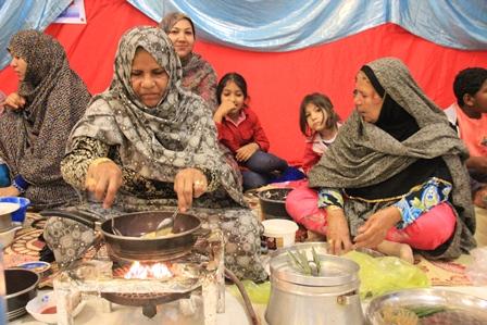 جشنواره پخت نان محلی قشم