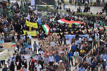جمعیت در راهپیمایی 22 بهمن