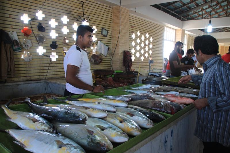 بازار ماهی قشم