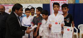 با حمایت شهرداری قشم مسابقات چهار جانبه کاراته برگزار شد