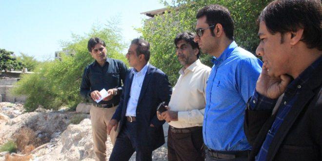 اعضای شورای شهر قشم از پروژه های شهرداری بازدید کردند