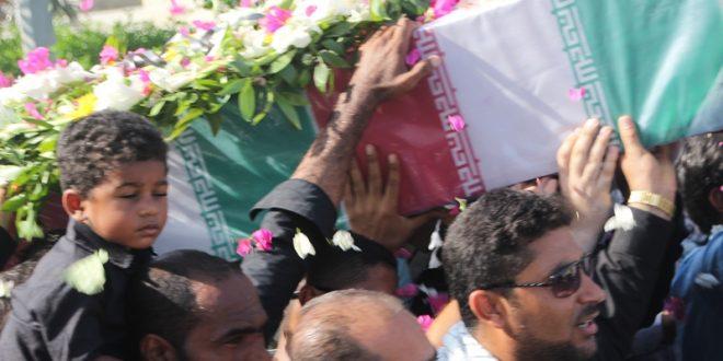 مراسم خاکسپاری شهدا برگزار شد