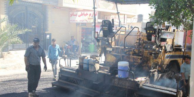 آسفالت خیابان محله گلشهر
