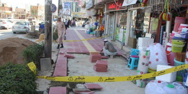 پیورس پیاده رو حدفاصل میدان جهاد تا پاسداران