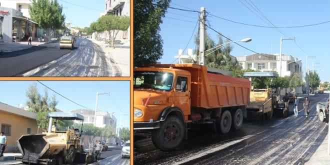 دستور ویژه شهردار قشم درخصوص آسفالت خیابان اصلی محله گلشهر