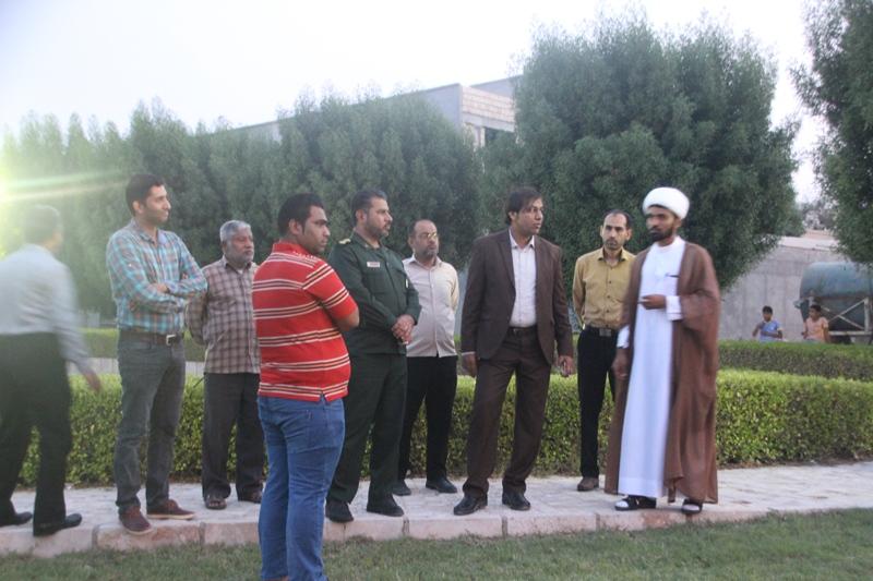 بازدید شهردار قشم از محله سجادیه