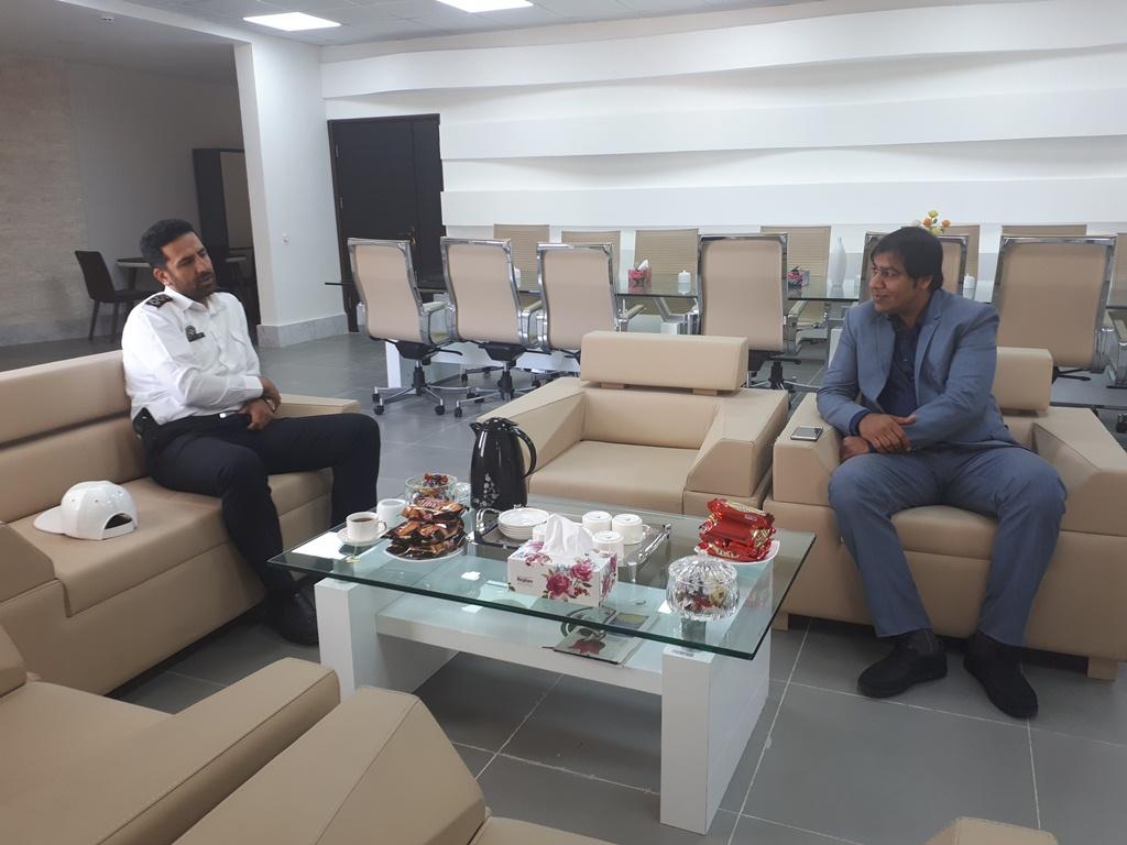 دیدار شهردار قشم با رئیس پلیس راهنمایی و رانندگی شهرستان قشم