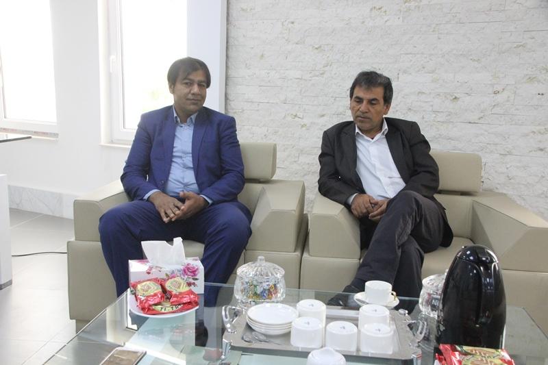 دیدار با حسن زاده رئیس دفتر مرادی نماینده مجلس در قشم