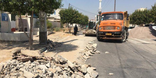 اصلاح و پیاده رو سازی محله گلشهر