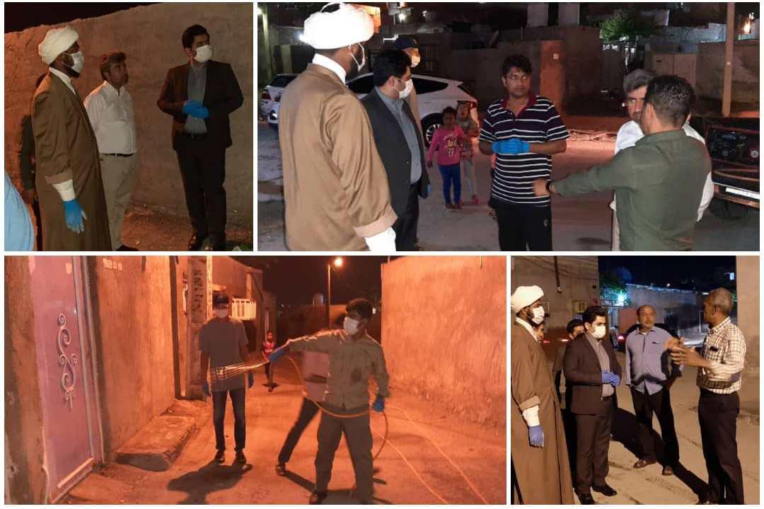بازدید شهردار قشم از اکیپ ضدعفونی محلات